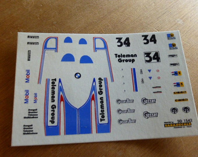 high quality 1:43 decals Osella BMW PA6 Gr.6 Toleman Racing Le Mans 1978 #34 Remember