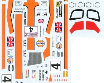 high quality 1:24 decals sheet Audi R8 Gulf Le Mans 2002 #4 Le Mans Miniatures DCA124047