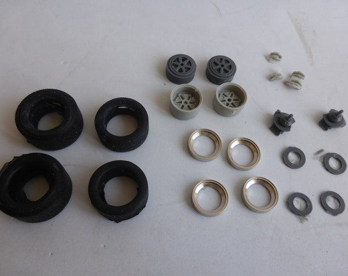 1:24 wheels, tires (with their ancillaries) for Ford GT40 1968 and other racing cars of the 60-70s Le Mans Miniatures ACW124005