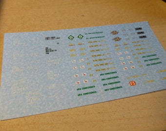 Decals sheet (H0 1:87) for Italian trains (locos and wagons) 60-70s high quality Cartograf sheet