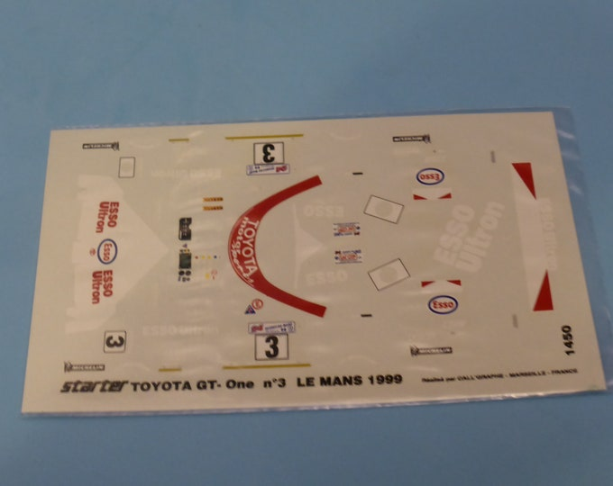 1:43 decals for Toyota GT-One LMGTP Le Mans 1999 #3 Katayama/Tsuckiya/Suzuki