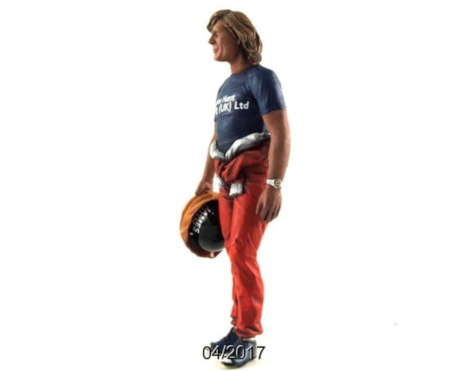 James Hunt Monaco GP 1977 1:18 high quality figure Le Mans Miniatures FLM118024-P1