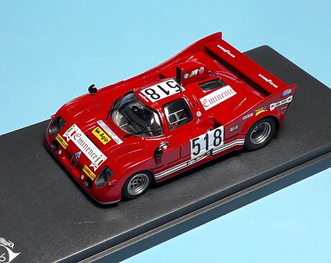 Alfa Romeo 33TT8 Coupé Giro d'Italia 1975 Andruet/Cartotto REMEMBER Models 1:43 - Factory built