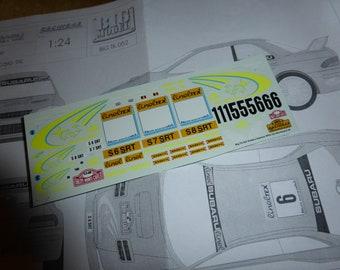 high quality 1:24 decals sheet for Subaru Impreza WRC 555 Rally Montecarlo 1999 Thiry, Kankkunen or Burns Racing43 BIG-TK52