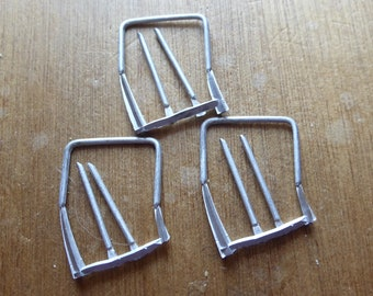 pack of 3 white metal rollbars for Mini Cooper, Abarth, small pickups etc 1:43 GM01RB