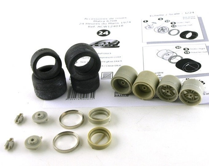 1:24 wheels, tires (with their ancillaries) for Matra MS670B and other racing cars of the 70s Le Mans Miniatures ACW124018