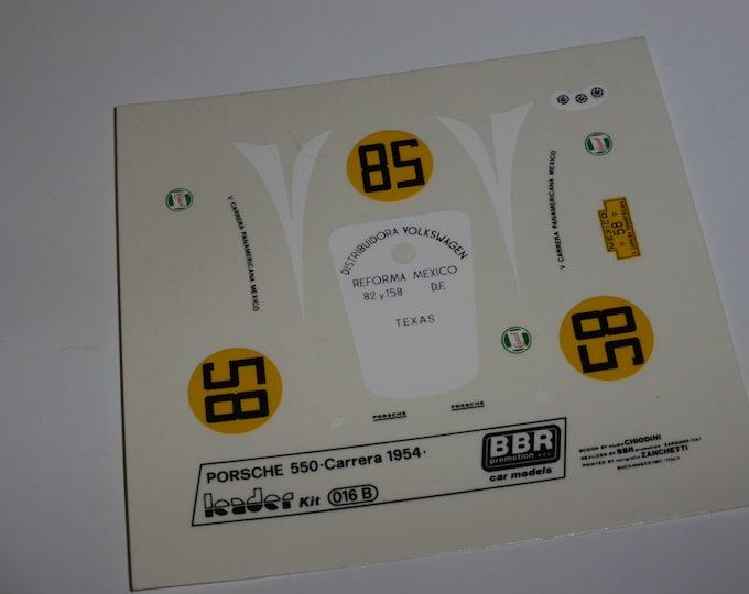 high quality 1:43 decals Porsche 550 Carrera Panamericana 1954 #58 Leader-BBR #016B
