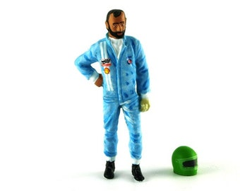 Henri Pescarolo handpainted resin figure for slot cars systems Le Mans Miniatures 1:32 FLM132030M
