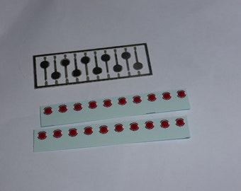 high quality photoetched Italian Guardia di Finanza signaling disks - palette (pack of 10 pcs) Autoparco AU-PALGF 1:43