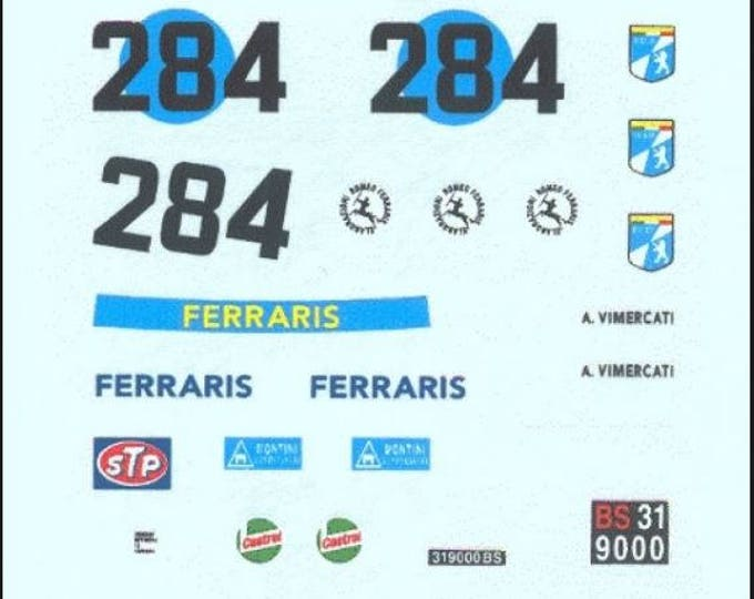 high quality decals Fiat 128 Gr.2 #284 Trofeo Deserti Imola 1971 Carrara Models 1:43