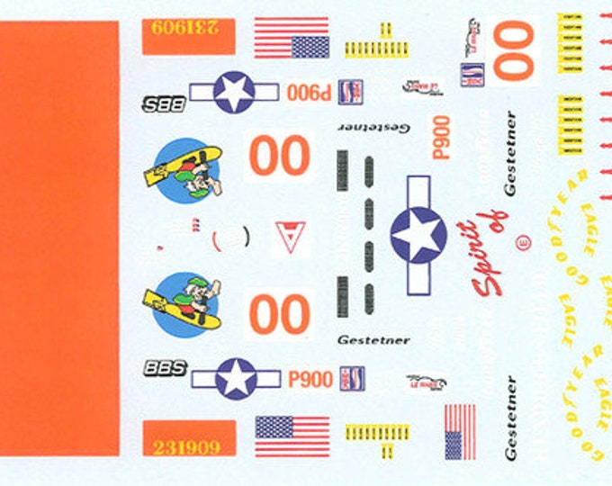 high quality 1:24 decals sheet Panoz Ford Sebring 12 hours 2002 #00 Le Mans Miniatures DCA124066