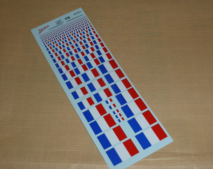 decals with French flags various scales Tin Wizard NA-FR-0