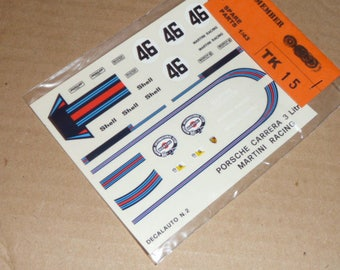 high quality 1:43 decals Porsche 911 Carrera RSR Martini Le Mans 1973 #46 Remember TK15