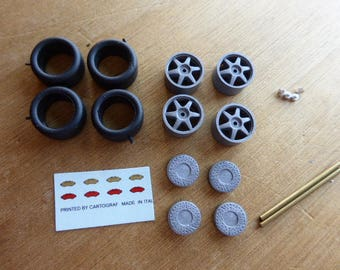 high definition  wheel set for Alfa Romeo 155 Supertouring and other racing touring cars Remember W17 1:43