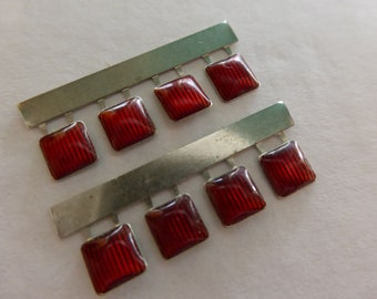 high quality 8x photoetched+resin lights square red mm 5.0 FLQ5 for model cars and other models