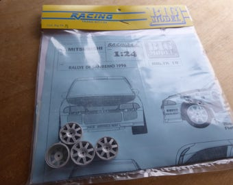 1:24 transkit for Mitsubishi Lancer Rally Sanremo/Montecarlo 1996 Trelles (decals+white metal wheels) RACING43 Big-TK18