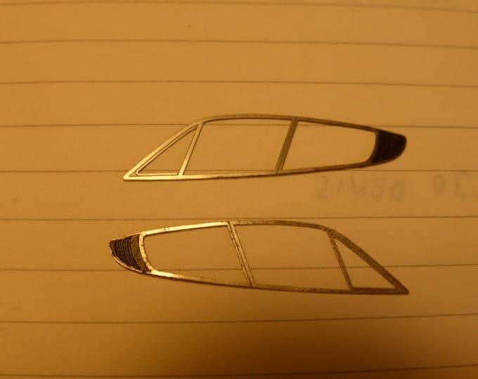 pack of 2 photoetched side windows frames (right-left) for Le Phoenix Ferrari 365 GTB/4 Daytona Gr4 original spare parts 1:43 [AMR-DA01]
