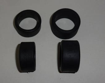 Set of 4 tires, slick  for racing cars - Scale model tires - 1:18