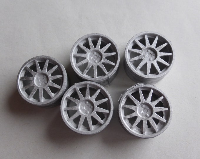 Set of 1:18 11-spokes  wheels for rally and sporting cars RACING43 BIG.A.100