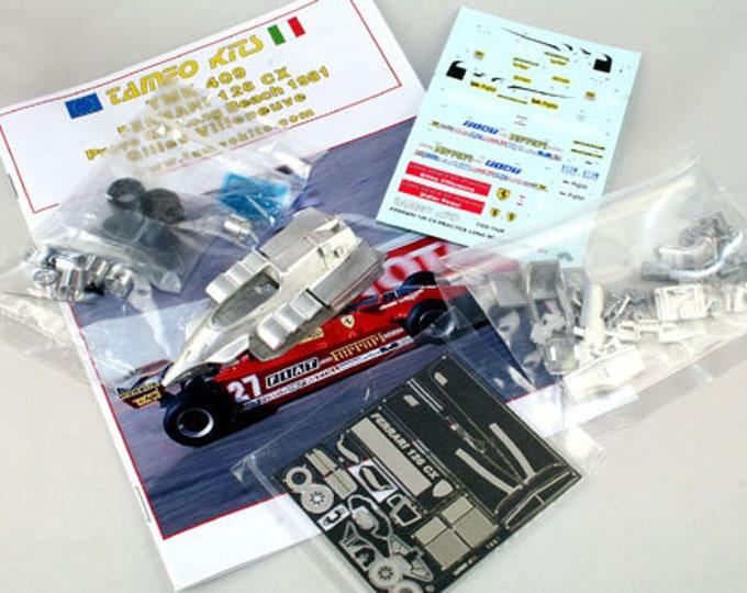 Ferrari 126 CX Formula 1 GP Long Beach 1981 practice Villeneuve TAMEO Kits TMK409 1:43