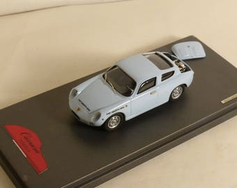 Fiat Abarth 1000 Bialbero 1961 light blue with engine detail CARRARA Models 1:43 CM43B-08D factory built