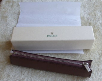 Rolex official leather pen case for customers, press and clients - Mint in original box and package