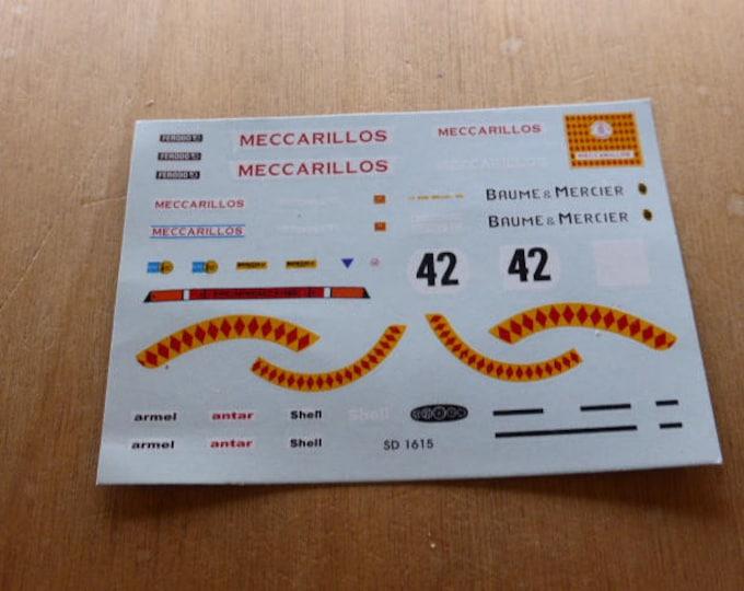 high quality 1:43 decals Porsche 934-5 Gr5 Meccarillos Paul Ricard 1977 Madyero