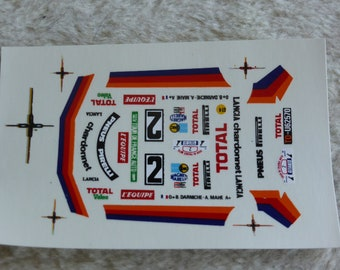 1:43 decals for Lancia Stratos Gr.4 Total Tour Auto 1981 #2 Darniche/Mahé Record