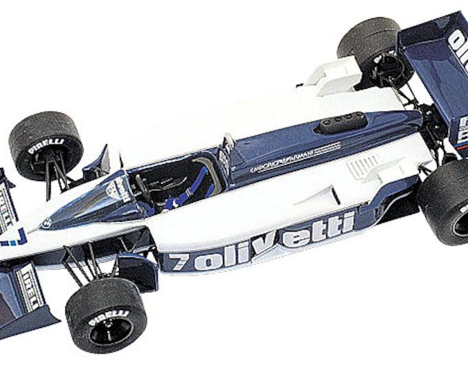 Brabham BMW BT55 F.1 Monaco GP 1986 Elio De Angelis or Riccardo Patrese TAMEO Kits TMK267 1:43