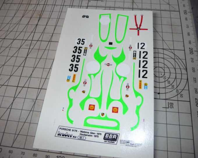 high quality 1:43 decals Porsche 917 K Martini Watkins Glen 1970 Remember TK08