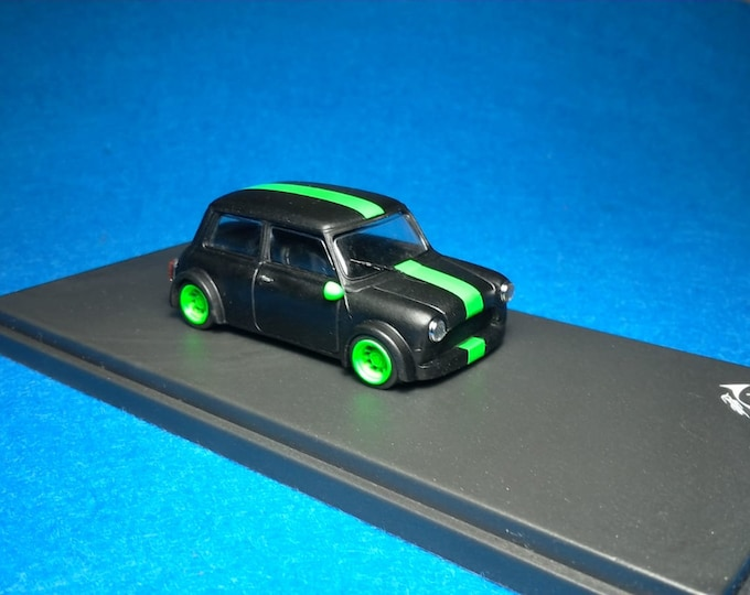 Mini Cooper Racing Group 2 dark grey with green dayglo trim Tavarco by Remember 1:43 - Factory built