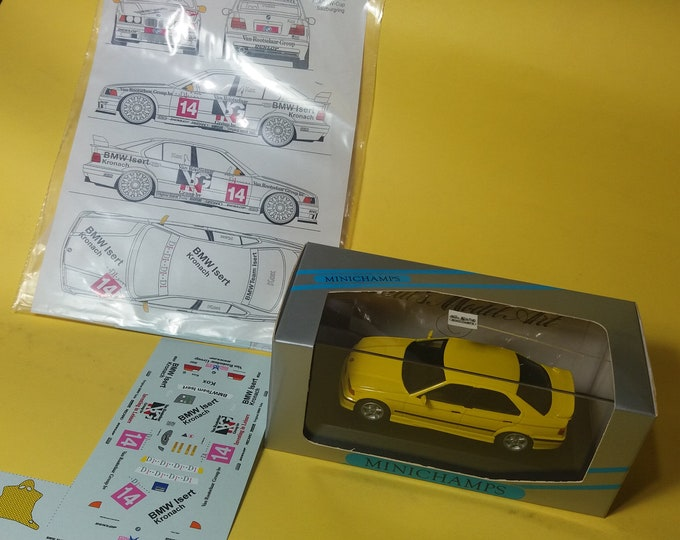 high quality 1:43 decals BMW 318is/4 Team Isert ADAC TW-Cup Salzburgring 1994 Peter Kox (only decals or option including Minichamps base)