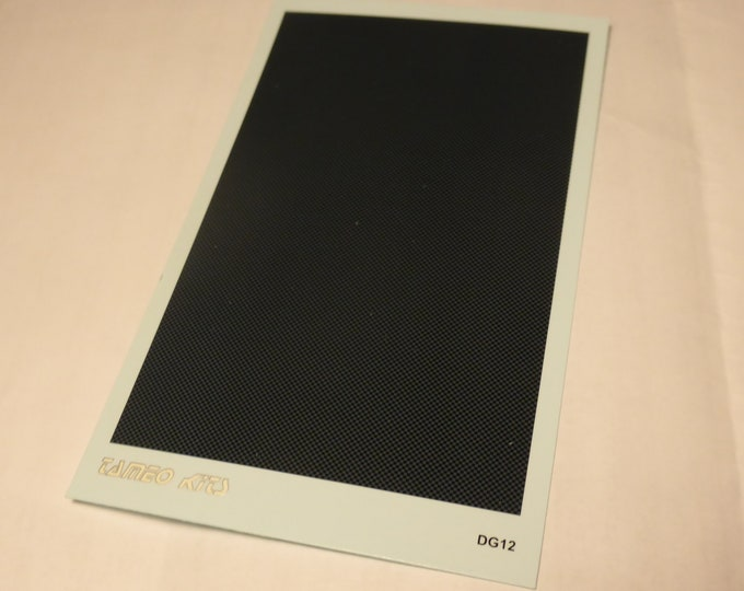 1:43 decals sheet for carbon fibre effect (chequered texture) Tameo DG12