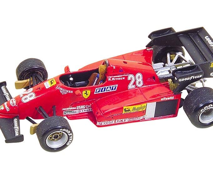 Ferrari 126 C3 Formula 1 Press version and German GP 1983 Tambay/Arnoux TAMEO Kits TMK007 1:43