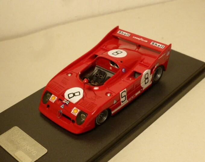 Alfa Romeo 33TT12 1000km Nurburgring 1973 De Adamich/Stommelen Madyero by REMEMBER Models 1:43 - Factory built