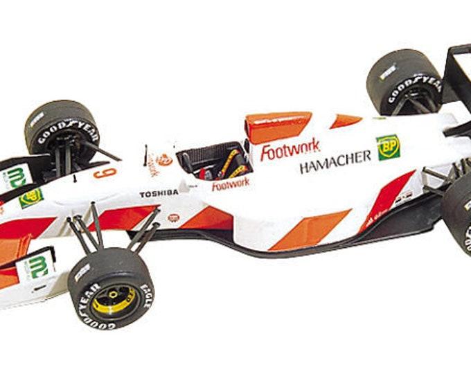 Footwork Mugen FA13 F.1 German GP 1992 Aguri Suzuki or Michele Alboreto Tameo Kits TMK161 1:43