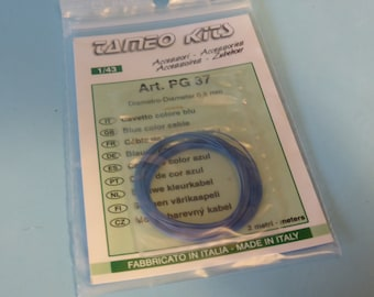 high quality blue colour mm 0.5 diameter cable 2 meters (ideal for engines, brakes, etc) Tameo PG37 1:43