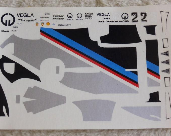 1:43 decals for Porsche 936 Gr.6 Joest Vegla Bob Wollek DRM 1982 Record