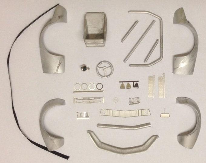 complete transkit Opel GT 1900 Steinmetz Gr4 for Minichamps 1:18 model white metal+photoetched Tin Wizard Z116-0