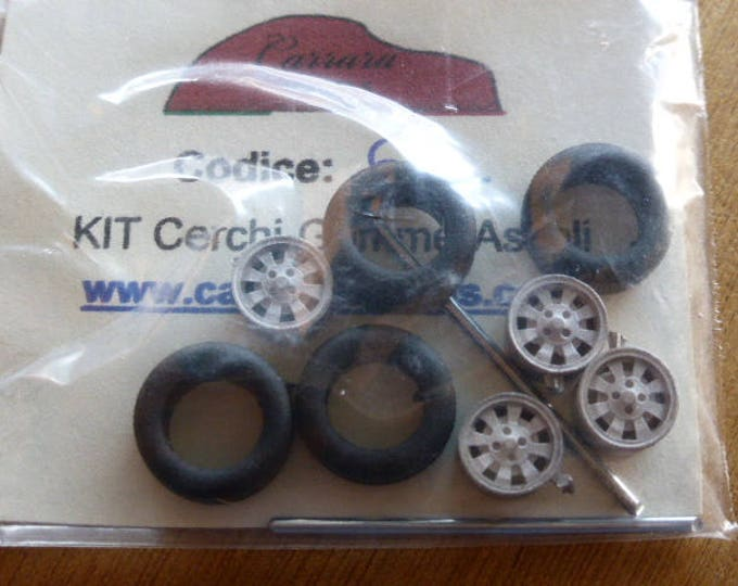 white metal  wheels for Lancia Fulvia and other cars 70s Carrara Models 66 1:43