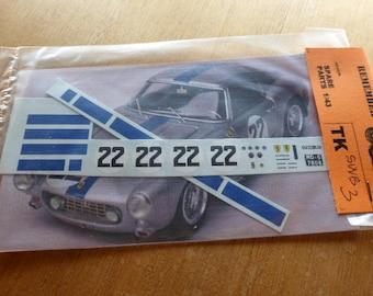 high quality 1:43 decals Ferrari 250 GT SWB Le Mans 1960 #22 Madyero by Remember TK-SWB3