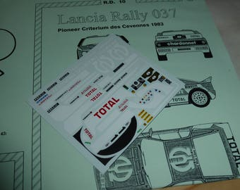 high quality 1:43 decals sheet for Lancia 037 Gr.B Pioneer Criterium des Cevennes 1983 Andruet/Rick RACING43 RD10