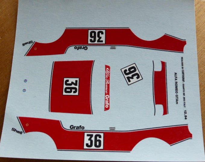 high quality 1:43 decals Alfa Romeo GTAm 2000 Grafo Racing Brno 1971 #36