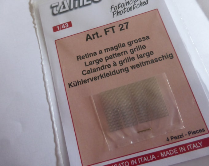 photo etched 1:43 large pattern grille for radiators, inlets etc (4 pieces) Tameo FT27