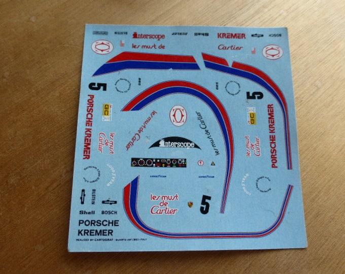 high quality 1:43 decals Porsche Kremer CK5 Gr.C Les Must de Cartier Le Mans 1982 #5 AMR Cartograph sheet