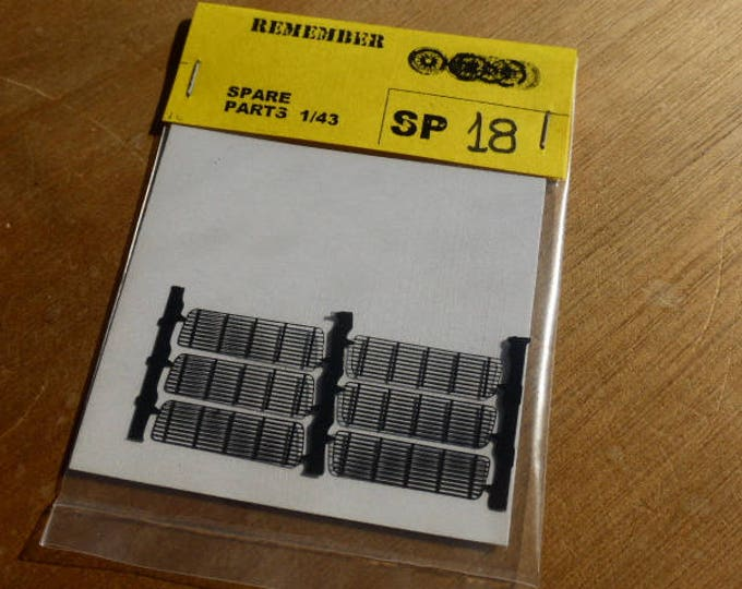 photo etched rear grilles for Porsche 911, 930, Carrera RS, RSR etc 1:43 (pack of 6) Remember SP18