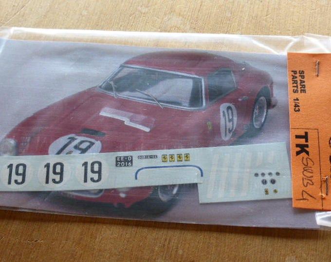 high quality 1:43 decals Ferrari 250 GT SWB Le Mans 1960 #19 Madyero by Remember TK-SWB4
