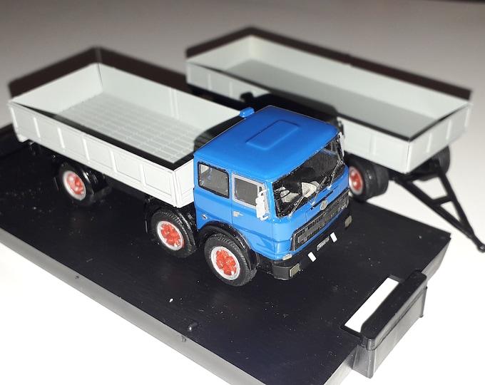 OM 180 4 axles lorry with 2 axles trailer Handbuilt model by Nonomologati 1:87 H0