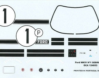 high quality 1:24 decals sheet Ford Mk.IV 12 hours of Sebring 1967 winner #1 Le Mans Miniatures DCA124053