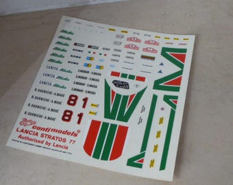 high quality 1:43 decals Lancia Stratos Gr4 Alitalia Rally Montecarlo 1977 #1-8 Remember TK20